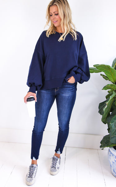 ELLE LAIN - YAYA SWING SWEATSHIRT - PLUS