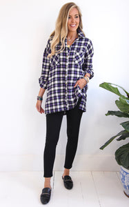 KAILEY FLANNEL - WHITE