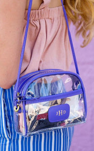 JON HART - CLEAR BECKY CROSSBODY *INCLUDES MONOGRAM*