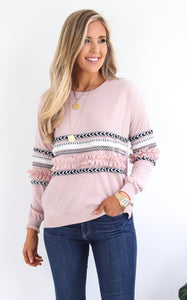 TALARA EMBELISHED SWEATSHIRT