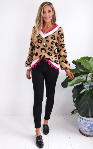 LEONA LEOPARD SWEATER