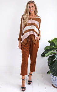 GUCCI STRIPE KNIT - COPPER