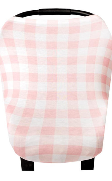 5-IN-1 MULTI USE COVER - PINK CHECK