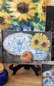 PIE ART - GINGER JAR SUNFLOWER - INCLUDES ADDITIONAL SHIPPING