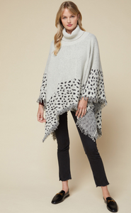 CHEETAH TRIM PONCHO