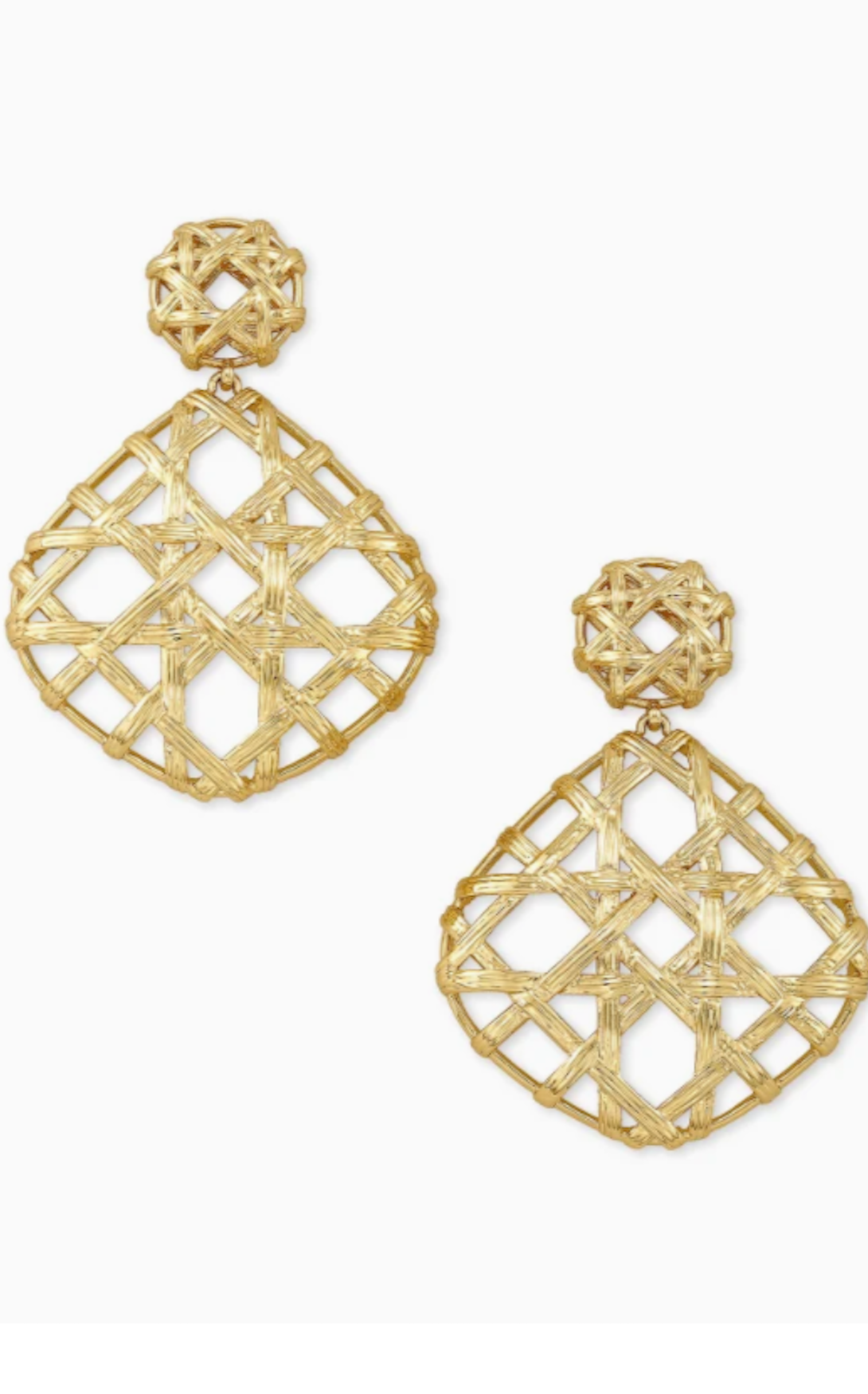 Natalie Gold Statement Earrings - Gold