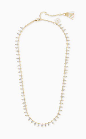 Jenna Gold Choker Necklace - White Howlite