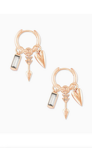 Zoey Interchangeable Huggie Earrings Set - Rose Gold