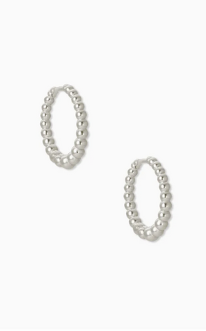 Josie Huggie Earrings - Silver