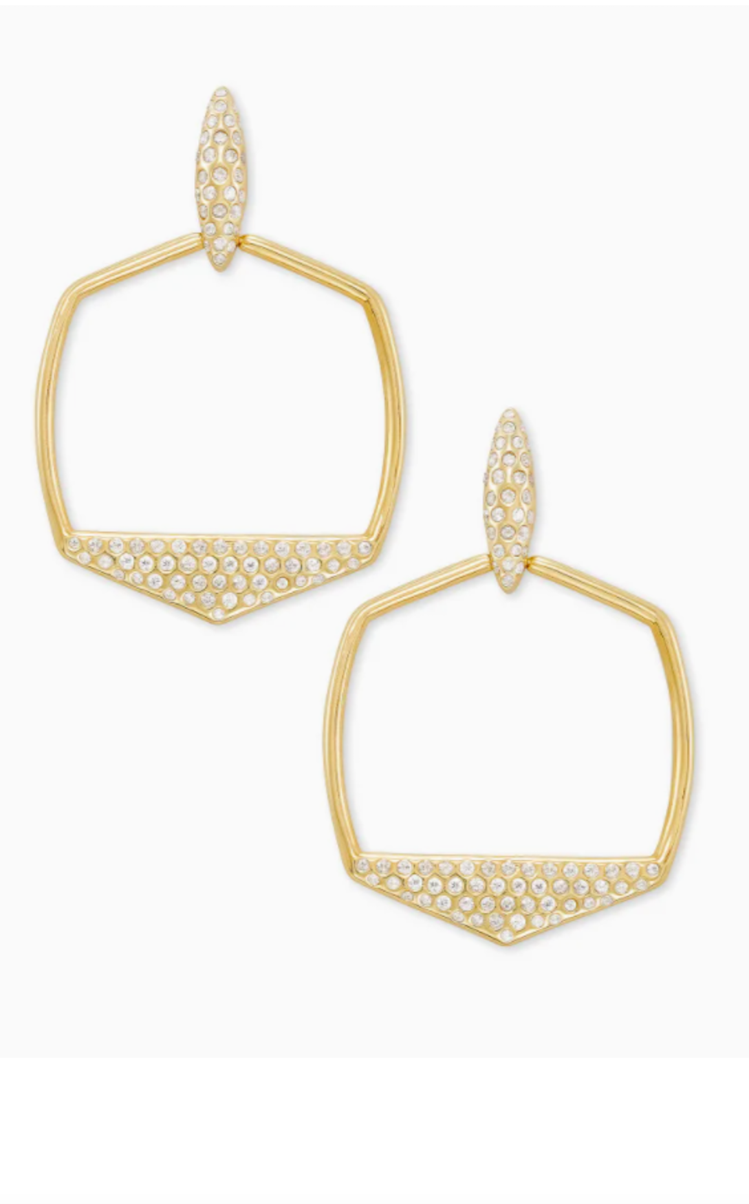 Selena Open Frame Earrings - Gold