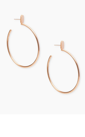 PEPPER HOOP EARRINGS - Rose Gold