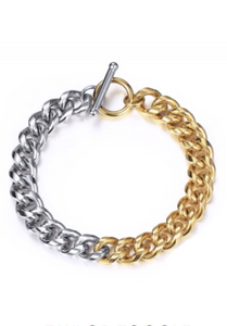 TAYLOR TOGGLE BRACELET - TWO TONE