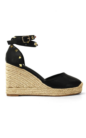 ELLE LAI - WHITNEY WEDGE - BLACK
