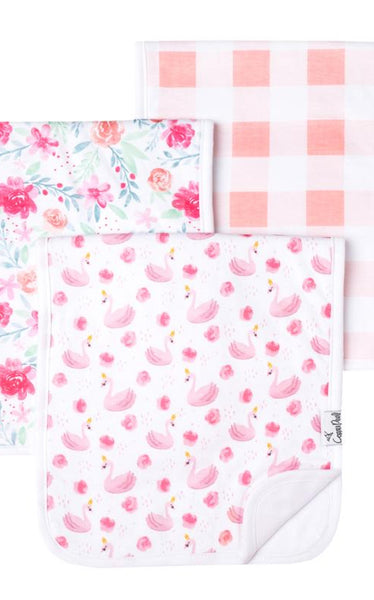 PREMIUM BURP CLOTHS - FLAMINGO