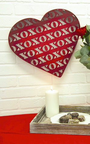 XOXO STENCIL HEART - INCLUDES ADDITIONAL SHIPPING