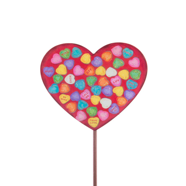 SMALL CANDIED HEART STAKE - INCLUDES ADDITIONAL SHIPPING