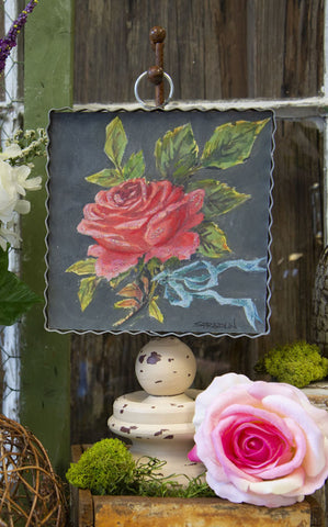 MINI PIE CRUST ART -  VINTAGE ROSE