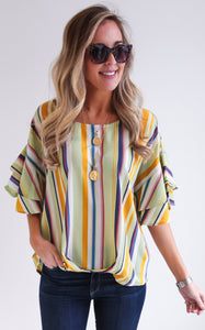 SPRING STRIPE TOP