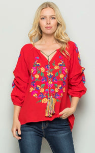 MARY NELL TOP - RED