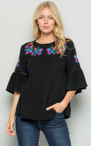 LUCIANA TOP - BLACK
