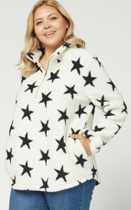STAR FLEECE PULLOVER - PLUS