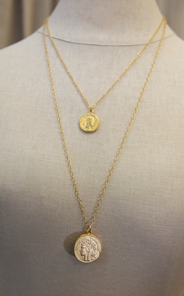 KRD - COIN NECKLACE - 32""