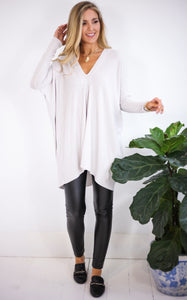 SUZAN SWEATER - SILVER