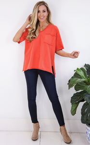 ELLE LAIN - EASY GOING TEE - CORAL