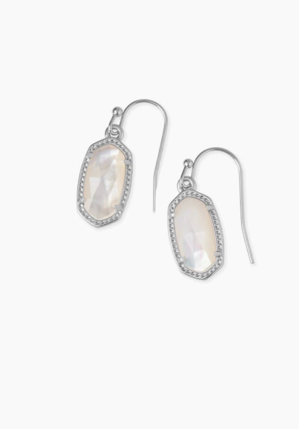 LEE SILVER DROP EARRINGS - IVORY PEARL