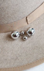 DOUBLE BALL STUDS - SILVER