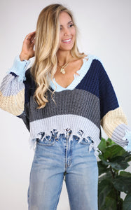 GRACE STRIPE SWEATER
