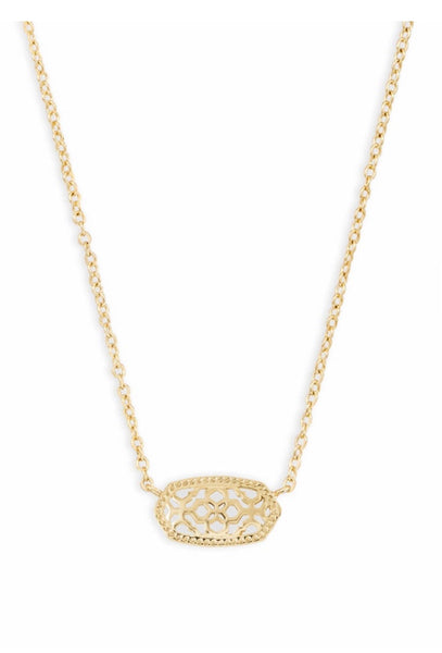 ELISA GOLD NECKLACE GOLD FILIGREE