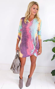 ELLE LAIN - TWIST UP TIE DYE DRESS