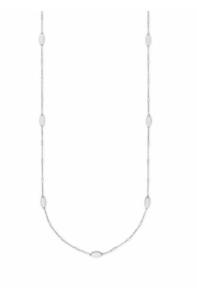 FRANKLIN LONG NECKLACE BRIGHT SILVER