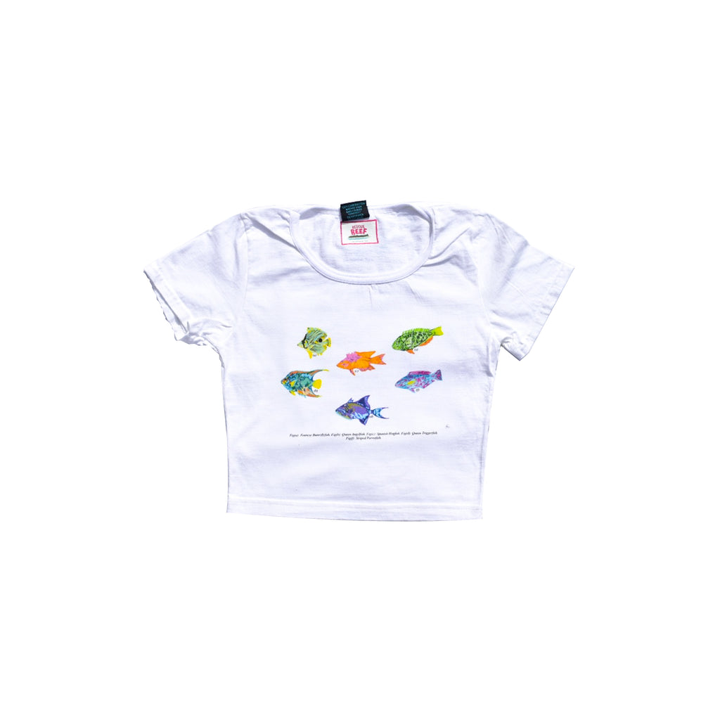 RESCUE DE REEF FISH CROP TOP - Levi Marcus, Caribbean lifestyle, Trinidad and Tobago, Jamaica, Fashion