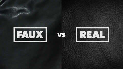 Real Leather vs Faux , artificial or fake leather