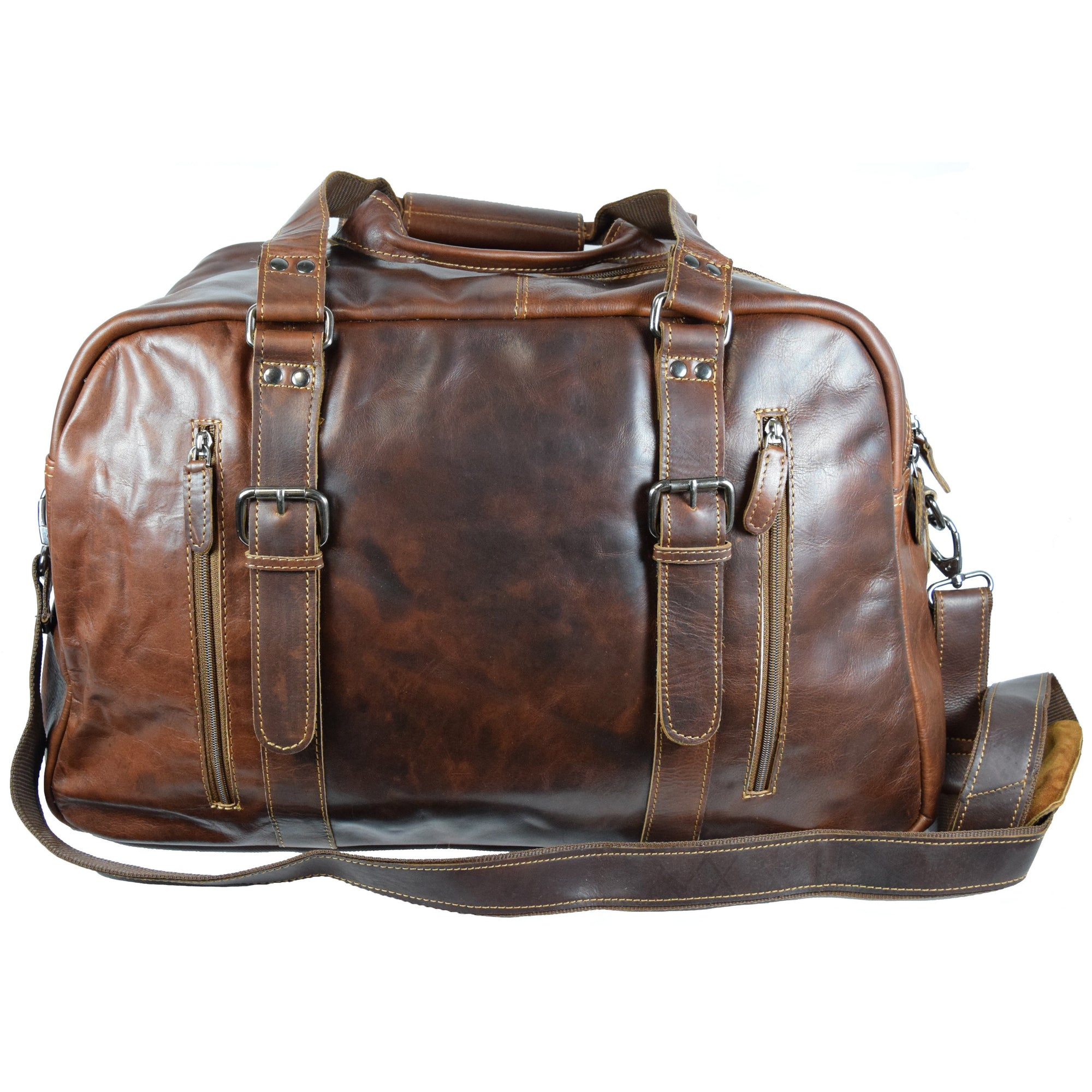 Voyager Duffle Bag - Sandal - Greenwood Australia - Handcrafted Premium Leather Goods