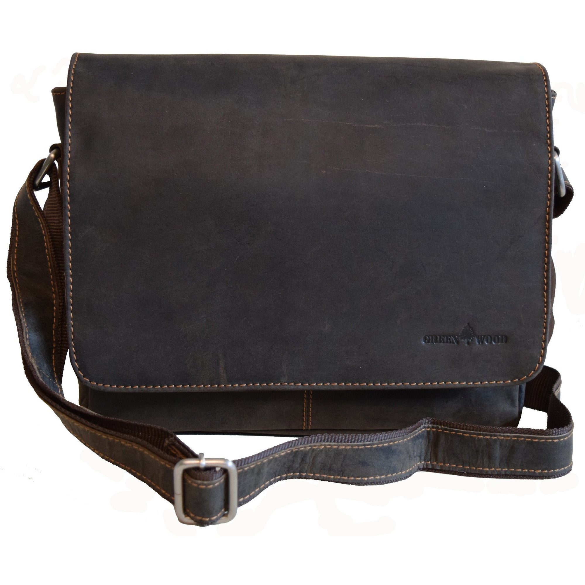 Smart Messenger Steven - Brown - Greenwood Australia - Handcrafted Premium Leather Goods