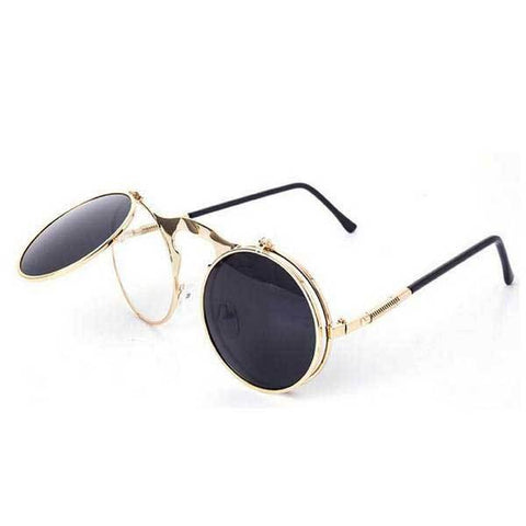 black and gold men's sunglasses