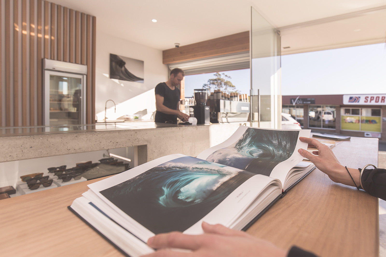 Thurston Photo book in Craft Surf Lifestyle Cafe in Ulladulla
