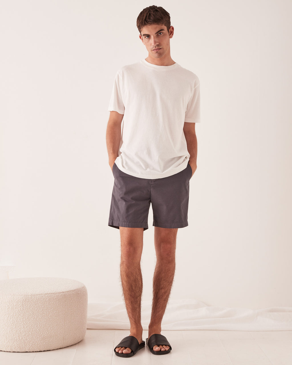 ASSEMBLY BRAND - THE CHINO SHORT CHARCOAL