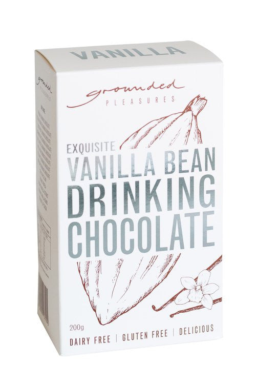 Grounded Pleasures - Vanilla Bean Drinking Chocolate Box 200g