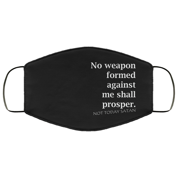 No Weapon - Not Today Satan Face Mask - PeculiarPeople StandOut Christian Apparel