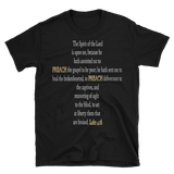 ANOINTED TO PREACH - LUKE 4:18 (Black and Navy) - PeculiarPeople StandOut Christian Apparel