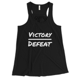 VictoryOverDefeat Women's Flowy Racerback Tank - PeculiarPeople StandOut Christian Apparel