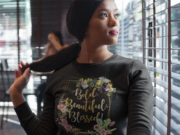 Beautiful. Bold. Blessed (Floral) - PeculiarPeople StandOut Christian Apparel