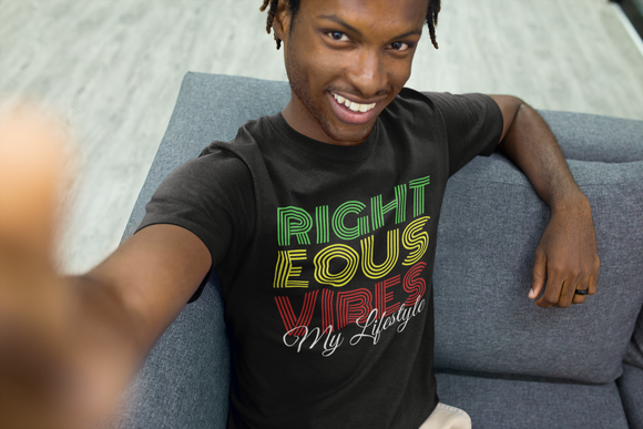 RIGHTEOUS VIBES MY LIFESTYLE - PeculiarPeople StandOut Christian Apparel