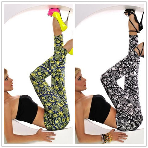Cute Printed High Quality Mid Waisted Cheap leggings With Unique Design - 16 Colors