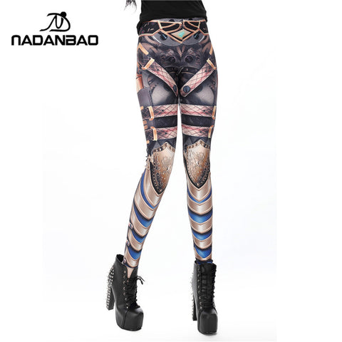 Cowboy Gun Style High Waisted Printed Women Leggings - Single Color