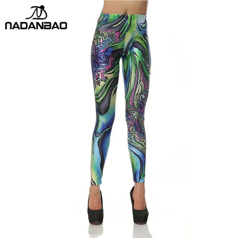 Cute Colorful Designed High Waisted Women Printed Leggings